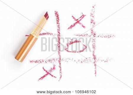 Smudge Lipstick Tic-tac-toe