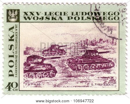 Poland - Circa 1968: A Stamp Printed In Poland Shows Painting