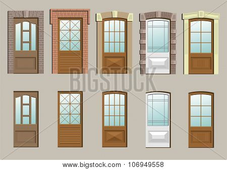 Wooden Doors In The Wall
