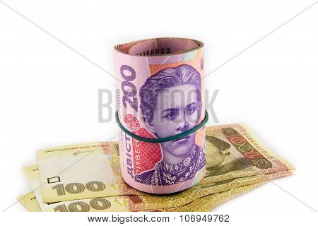 Ukrainian Hryvnia Close Up