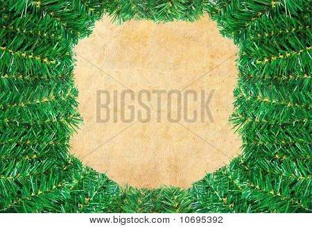 Christmas green framework with Pine needles isolated