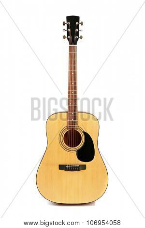 Guitar isolated on white
