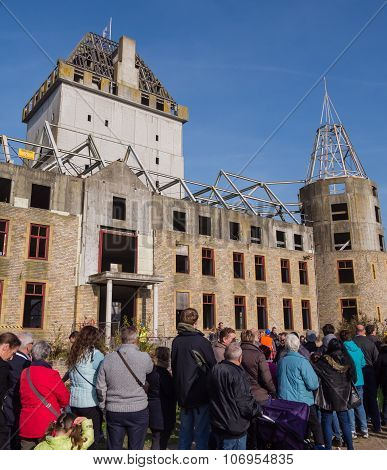 Modern ruin of castle Almere
