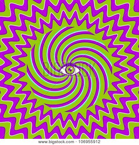 hypnotic retro poster