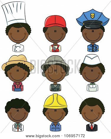 African-american Professional People Avatars