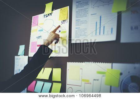 Business Chart Organization Planning Marketing Concept