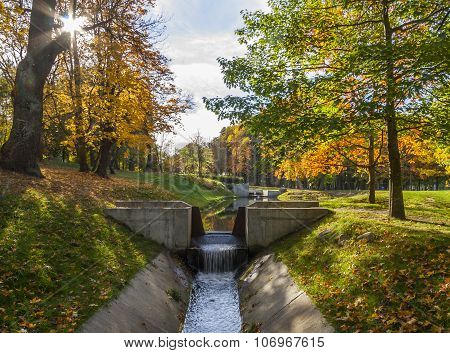 Canal In The Autumn Park