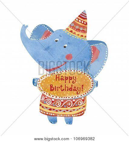 Elephant Happy Birthday