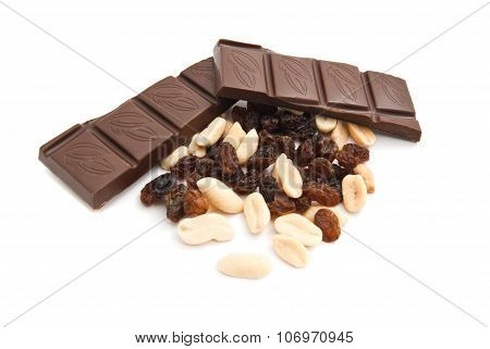 Raisins, Peanuts And Chocolate