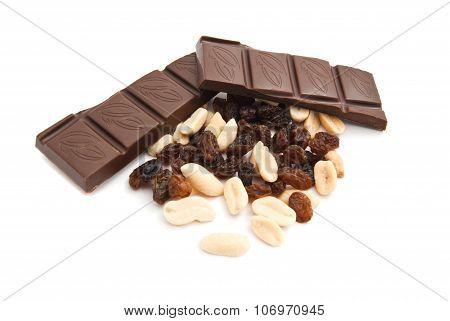 Raisins, Peanuts And Chocolate