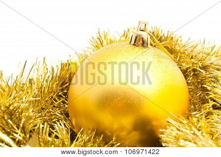 Tinsel And Christmas Tree Ornament