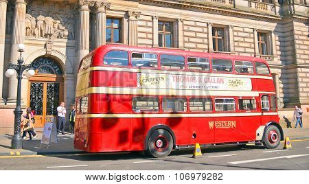 A double-decker bus