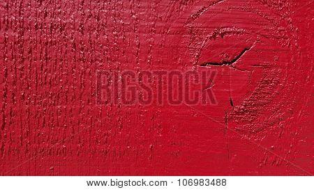 Painted In Deep Red Wood Board