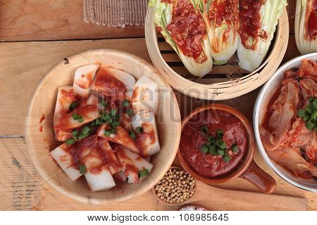Kimchi Of Korean Food Traditional.