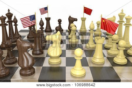 United States and China foreign policy strategy and power struggle