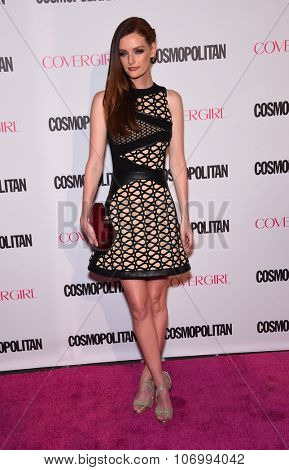LOS ANGELES - OCT 13:  Lydia Hearst arrives to the Cosmopolitan's 50th Birthday Party on October 13, 2015 in Hollywood, CA.