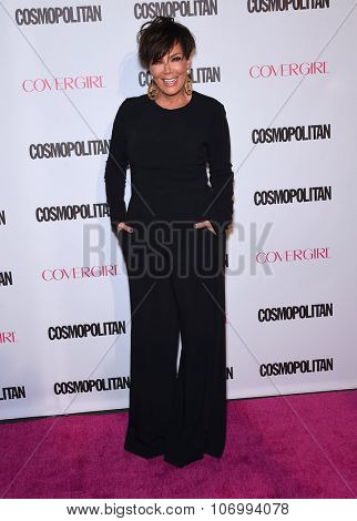 LOS ANGELES - OCT 13:  Kris Jenner arrives to the Cosmopolitan's 50th Birthday Party on October 13, 2015 in Hollywood, CA.