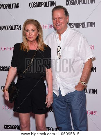 LOS ANGELES - OCT 13:  Kathy Hilton & Rick Hilton arrives to the Cosmopolitan's 50th Birthday Party on October 13, 2015 in Hollywood, CA.