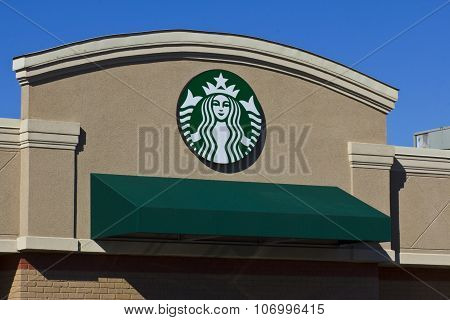 Indianapolis - November 2015: Starbucks Retail Coffee Store.