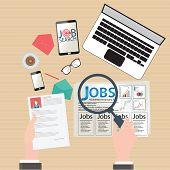 Постер, плакат: Job Search Design