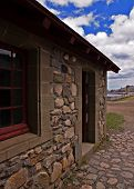 pic of acadian  - exterior scene in the fortress of louisbourg - JPG