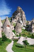 Uchisar, Turkey. One Of The Landmark Villages Of Cappadocia.