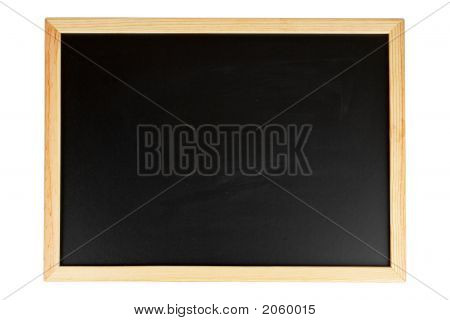Empty Black Chalkboard