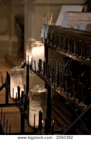 Votive Candles In Church