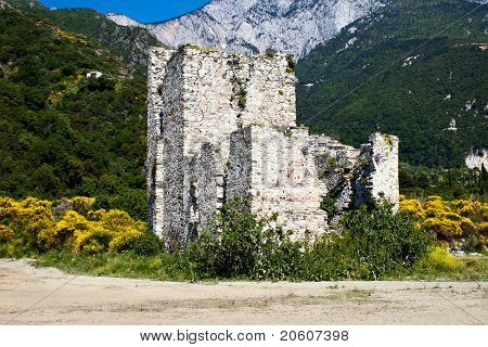 Sentry Serf Tower On Coast, Athos