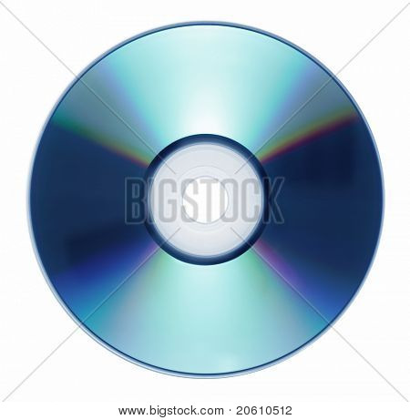 Single disc cd dvd isolated on white background. Compact disk