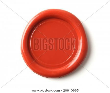wax seal isolated on white