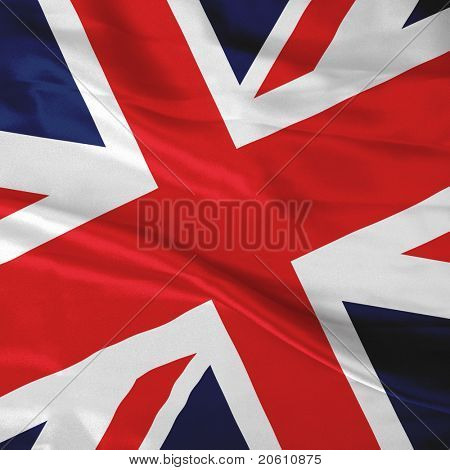 Close up of the British flag