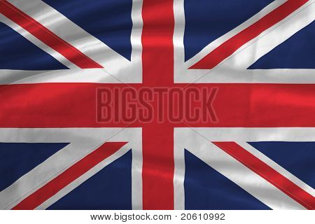 Satin UK flag