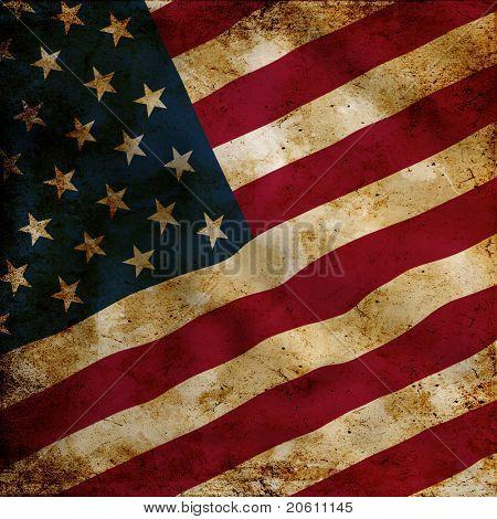 Bandera de Estados Unidos de Grunge
