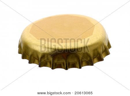 golden bottle cap