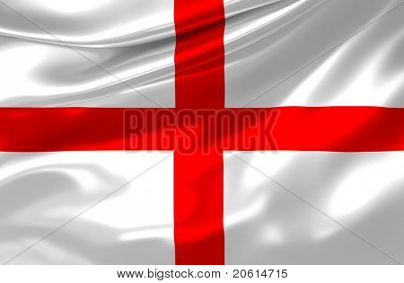England satin flag