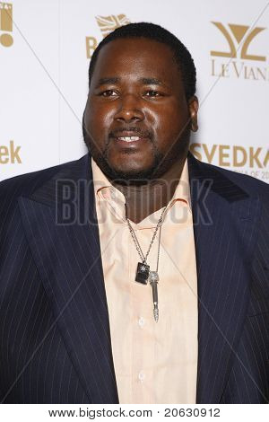 WEST HOLLYWOOD - FEB 25:  Quinton Aaron arriving at the OK! Magazine and BritWeek celebrate the Oscars party held at the London Hotel in West Hollywood, California on February 11, 2011.