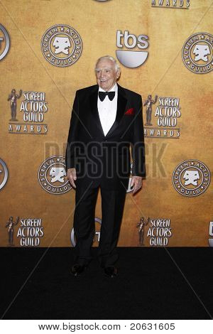 LOS ANGELES - JAN 30:  Ernest Borgnine in the press room at The 17th Annual SAG Awards held at the Shrine Auditorium in Los Angeles, California on January 30, 2011.