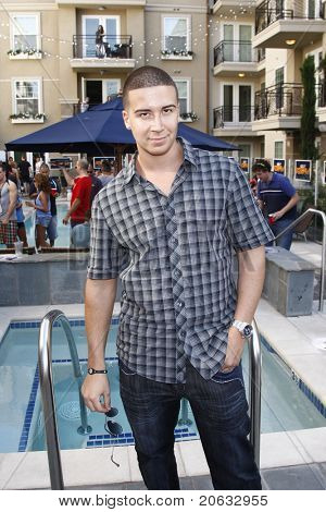 LOS ANGELES - JUL 11:  Vinny Guadagnino arrives at the KIIS-FM 'Now 34 and The Jersey Shore' party on July 11, 2010 at Hollywood Tower, Los Angeles, California.