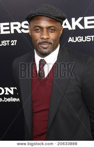 LOS ANGELES - AUG 4:  Idris Elba arriving at the premiere of Screen Gems' 'Takers' at the Arclight Cinerama Dome in Los Angeles on August 4, 2010.