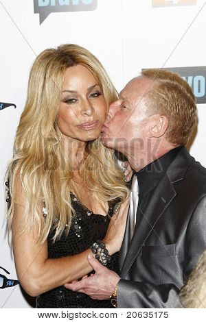 BEVERLY HILLS - OCT 11:  Faye Resnick and Elliot Mintz at the Bravo's 'The Real Housewives of Beverly Hills' series party at Trousdale, Beverly Hills, California on October 11, 2010.