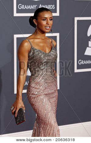 LOS ANGELES - JAN 31:  Melody Thornton arriving at the 52nd Annual GRAMMY Awards held at Staples Center in Los Angeles, California on January 31, 2010.