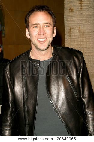 LOS ANGELES - MAR 12:  Nicolas Cage at the 'Willard' premiere at the Egyptian Theater in Los Angeles, California on March 12, 2003.