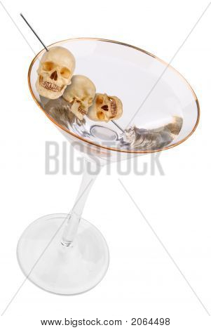 Martini With Human Skulls