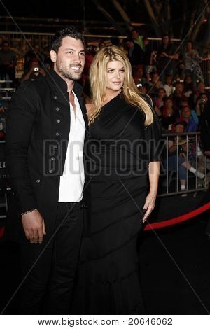 ANAHEIM - MAY 7: Kirstie Alley, Maksim Chmerkovskiy at the world premiere of 'Pirates of the Caribbean: On Stranger Tides' held at Disneyland in Anaheim, CA on May 7, 2011.