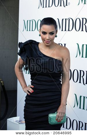 WEST HOLLYWOOD, CA - MAY 10: Kim Kardashian at the Midori Melon Liqueur Trunk Show at Trousdale on May 10, 2011 in West Hollywood, California