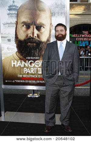 LOS ANGELES - MAY 19: Zach Galifianakis at the premiere of 'The Hangover Part II' held at the Grauman's Chinese Theater in Los Angeles, CA on May 19, 2011.