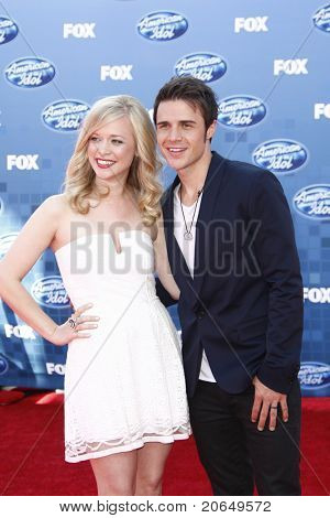 LOS ANGELES - MAY 25: Kris Allen, wife Katy at the American Idol Finale at the Nokia Theater in Los Angeles, California on May 25, 2011.