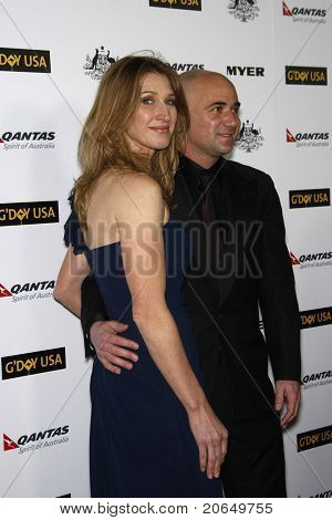 LOS ANGELES - JAN 22: Andre Agassi and Steffi Graf at the 2011 G'Day USA Australia Week LA Black Tie Gala at the Hollywood Palladium in Los Angeles, California on  January 22, 2011.