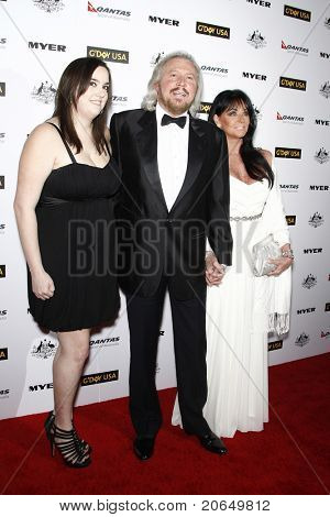 LOS ANGELES - JAN 22: Barry Gibb with Linda Gibb and Alexandra Gibb at the 2011 G'Day USA Australia Week LA Black Tie Gala at the Hollywood Palladium in Los Angeles, California on  January 22, 2011.